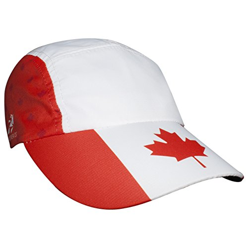 - Headsweats Canada Race Hat, White, One Size