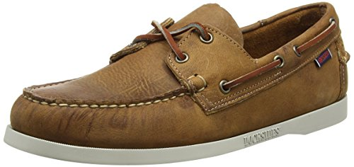Sebago DOCKSIDES/COFFEE WAXY B72766, Herren Mokassins Braun (BROWN LEA/WHITE O/SOLE)