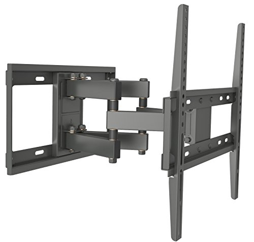 32 Tilt Lcd Wall Mount (Husky Mounts Full Motion TV Wall Mount Fits Most 32 - 55 Inch LED LCD Flat Screen Up to VESA 400X400 Tilt Swivel Articulating TV Bracket)
