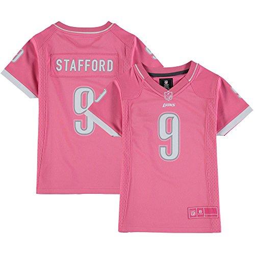 Outerstuff Girls Youth Detroit Lions Matthew Stafford Pink Bubble Gum Jersey-M(10-12) ()