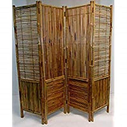 Beau Master Garden Products Bamboo Self Standing Divider Screen, 72 X 72, Tan