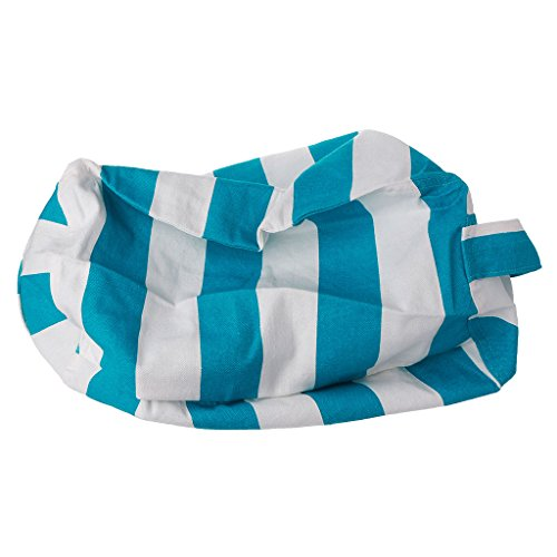 Redriver Kids Stuffed Animal Toy Cotton Bean Bag Large Storage Pouch Soft Stripe Sack (Green, S) by Redriver