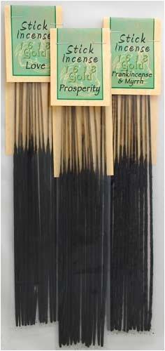 Banishing 1618 gold Incense Sticks (13 pack) (Sticks Banishing Incense)