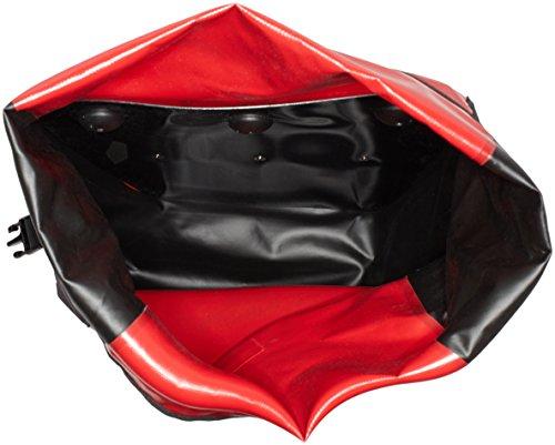 Haberland Fahrradtasche Einzeltasche Hazwoo Paar Wasserdicht Schwarz/Rot, HZO150 40
