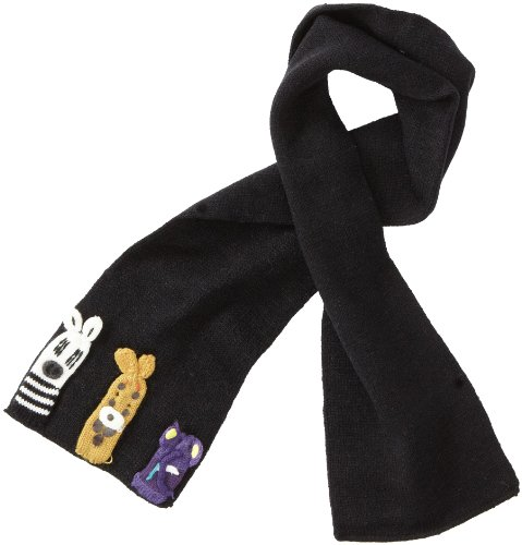 - Kidorable Soft Acrylic Knit Scarf, Noah's Ark (Black), One Size Fits Most, for Toddlers, Little Kids, Big Kids