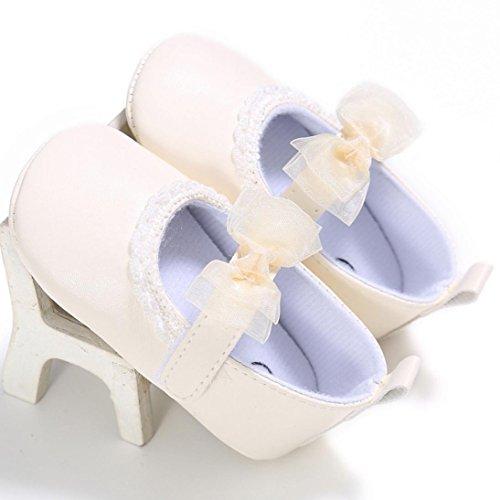 Tefamore Zapatos Bebé Recién Nacido de la Flor Zapatillas Antideslizantes Suaves Niño Cuna Amarillo