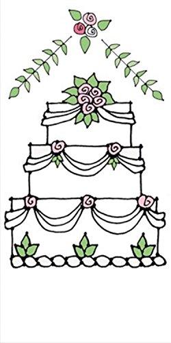 Club Pack of 240 Wedding Cake Printed Hanky Swankies Pocket Facial Tissues