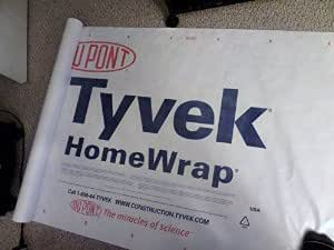 3 By 7 Foot DuPont Tyvek Homewrap Sheet by Campcovers