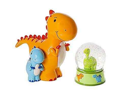 Mousehouse Gifts Dinosaur Snow Globe and Money Box Toy Coin Savings Piggy Bank for Baby Kids Children Present Gift for Boys