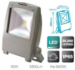 Foco Proyector Led de aluminio de alto brillo de 50W ...
