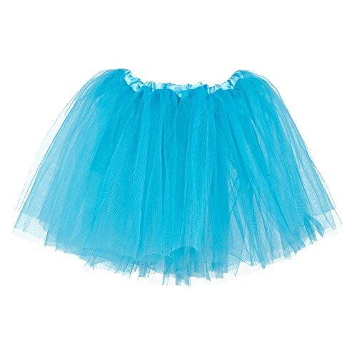My Lello Little Girls Tutu 3-Layer Ballerina Turquoise (10 mo - 3T)]()