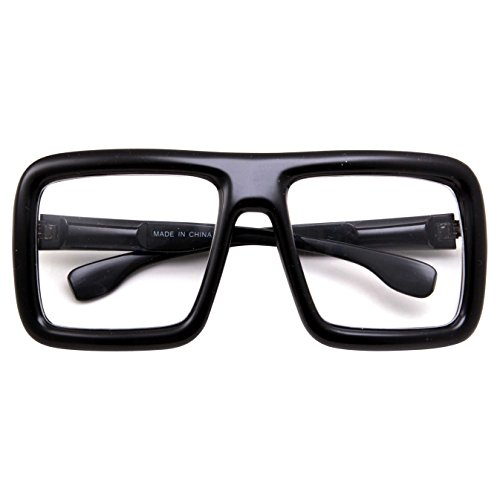 6fd25ae555 Thick Square Frame Clear Lens Glasses Eyeglasses Super Oversized Fashion  and Costume