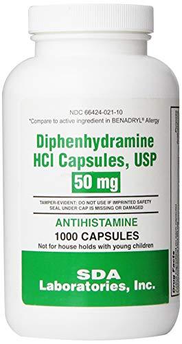 SDA Laboratories, INC Generic Benadryl Allergy - Diphenhydramine (50mg) - 1000 Capsules ()