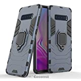 Cocomii Black Panther Armor Galaxy S10+ Plus Case New [Heavy Duty] Tactical Metal Ring Grip Kickstand Shockproof Bumper [Works with Magnetic Car Mount] Cover for Samsung Galaxy S10+ Plus (B.Black)