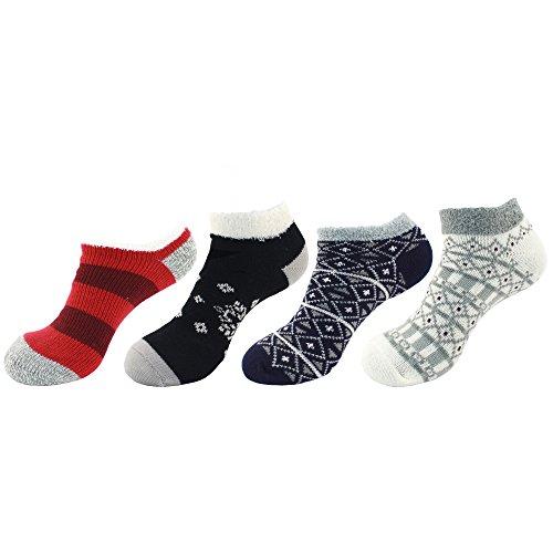 Fuzzy Warm Assortment Bamboomn J Women's Cozy Super Soft Assortments Socks xqx4P1X