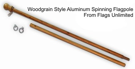 Tangle Free Spinning Pole -WOODGRAIN Finish, Outdoor Stuffs
