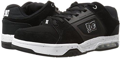 DC Men's Rival Skateboarding Shoe, Black/White, 6.5 M US