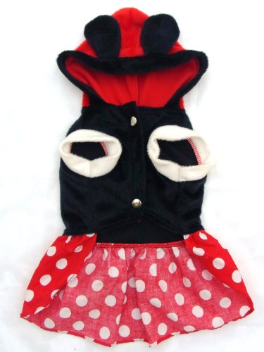 Seesine Minnie Mouse dog costume hoodie DC003S2 (Size 2) for $<!--$19.49-->