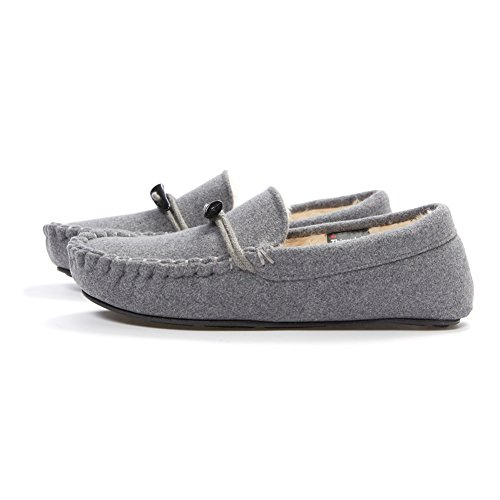 Moccasin Thinsulate Grey Men's slip Slippers Anti YOUTOUCHLIFE House Shoes E5q8xUA