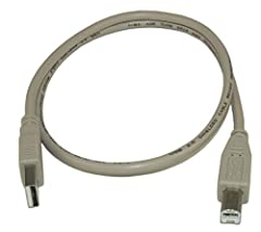 Connects your computer to any USB device with Type B female port. This USB 2.0 cable is ideal for connecting most Type A USB devices to a Type B connector - such as a computer to a printer. Most current printers (inkjet and laser) use this ca...