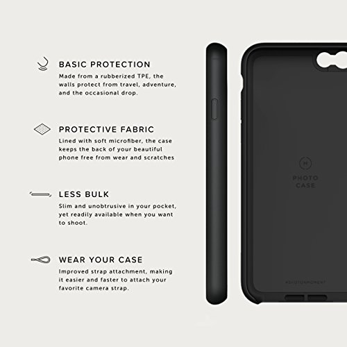 iPhone 8 / iPhone 7 Case with Fisheye Lens Kit || Moment Black Canvas Photo Case plus Superfish Lens || Best iphone fisheye attachment lens with thin protective case. by Moment (Image #5)