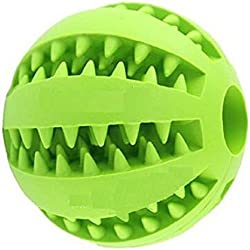 Wendin TOY IQ BALL FOR DOGS & CATS Dental Treat Bite Resistant durable Non Toxic- BPA FREE-Strong Tooth Cleaning Dog Toy Balls for Pet IQ Training/Playing/Chewing,Soft Rubber,Bouncy,Tennis Ball Size