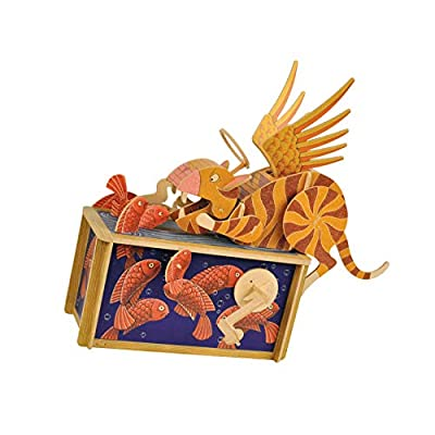 Clockwork Dreams Automata Kit - Storybook Series - Mini Machine Wood Kit (Cat Paradise): Toys & Games