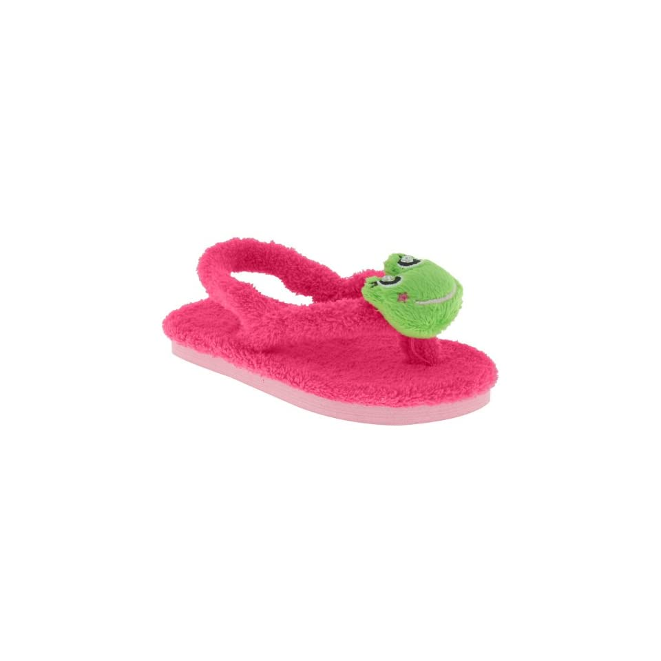 Capelli New York Chamois Thong With Backstrap And Fancy Froggy Pom Toddler Girls Flip Flop Pink 4/5