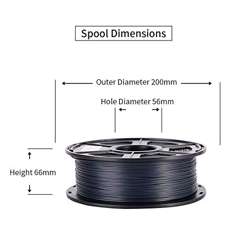 Dimensional Accuracy +//- 0.03 mm,Black Spool 1 kg SunTop 3D Carbon Fiber PLA Filament 1.75mm Rohs Compliance 2.2lbs