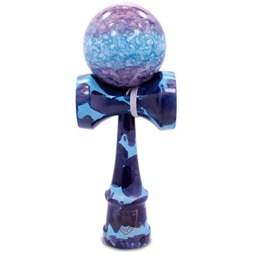 Price comparison product image Full Blue & Purple Marble Kendama And Extra String