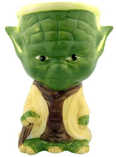 Yoda Ceramic (NEW Painted Rare STAR WARS Collectible Ceramic Mug Cup Gift Yoda Goblet 5 3/4