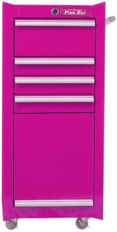 4-Drawer Pink The Original Pink Box PB1804R 18-Inch 18G Steel Rolling Tool//Salon Cart