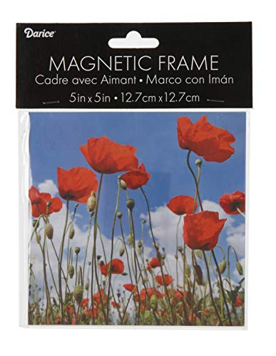 - Darice 2701-55 Acrylic Magnetic Photo Frame, 5x5