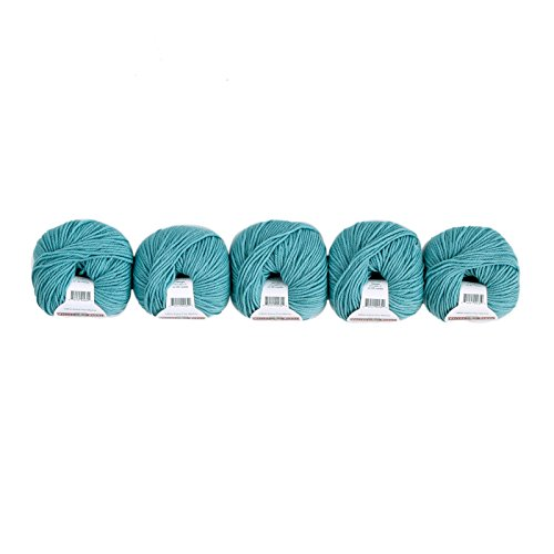 Superwash 5-Pack (Washable, Worsted Weight Yarn, 100% Extra Fine Merino Wool) - #522 Teal ()