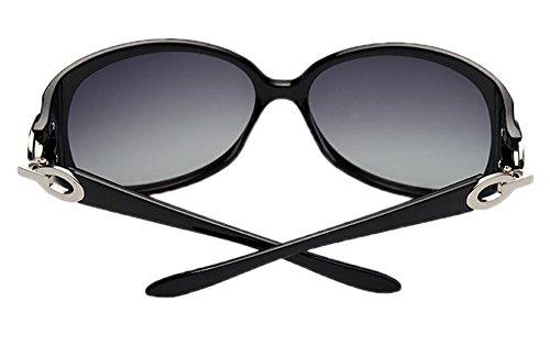 UV400 en de mode plastique Cadre Noir lunettes Hellomiko classique polarisé soleil de de w5vXInq