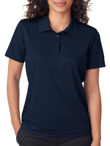 Cool Mesh Polo (UltraClub Women's Cool & Dry Moisture Wicking Mesh Polo Shirt, XX Large, Navy)
