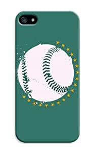 LarryToliver iphone 5/5s Design Just Do It Colorful Customizable Baseball Oakland Athletics Best Rubber Cover Case