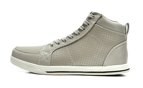 Dream Pairs Mens 160309-m Scarpe Stringate Alte Oxford Grigio