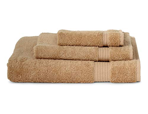 (TowelSelections Sunshine Collection Soft Towels 100% Turkish Cotton 3-Piece Set Beige)