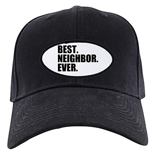 CafePress Best Neighbor Ever Baseball Cap Baseball Hat, Novelty Black Cap