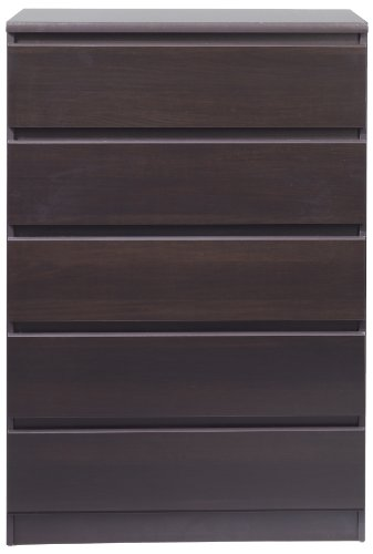 Scottsdale 5 Drawer Chest Finish: Coffee ()