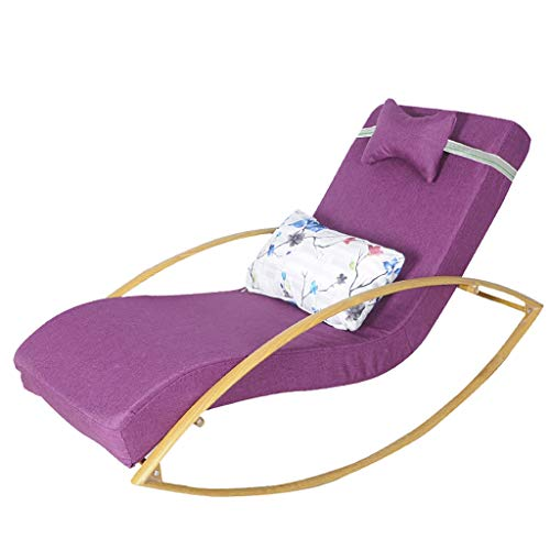 Sofa Rocking Chair Relaxing Recliner Leisure Armchair with Detachable Cotton Linen Cover,Steel Frame for Living Room Bedroom