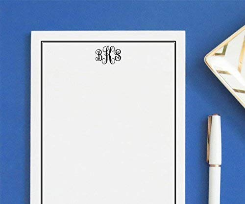 Monogrammed notepad,Professional notepads, Personalized Monogrammed notepad, Personalized Notepad Set, Monogrammed Letter writing paper, size 5.5in x 8.5in, 50 sheets