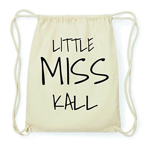 JOllify KALL Hipster Turnbeutel Tasche Rucksack aus Baumwolle - Farbe: natur Design: Little Miss