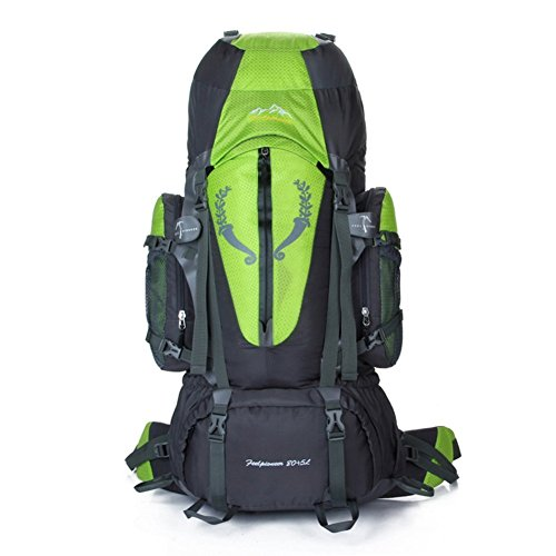 Sincere® Verpackung / Rucksäcke / Mobil / Ultraleicht Große Kapazität Bergrucksack / Outdoor-Sporttasche / Beutel / Camping-Rucksack 80L-grün 90L