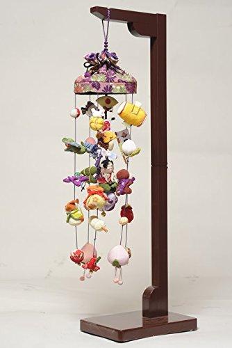 【五月人形】【五月つるし雛】傘付桃太郎吊るし飾り:小スタンド付 B00URBEDPK