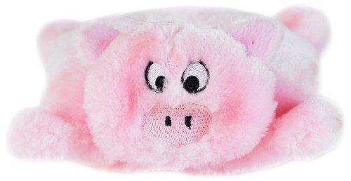 ZippyPaws Squeakie Pad No Stuffing Plush Dog Toy, Pig