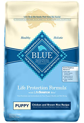 Blue Buffalo Life Protection Formula Puppy Dog Food - Natural Dry Dog Food for Puppies - Chicken and Brown Rice - 15 lb. Bag (Baby Dog Food)