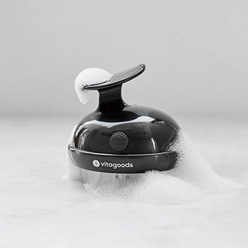 Vitagoods 2-Speed Vibrating Scalp Massaging Shampoo Brush, Black