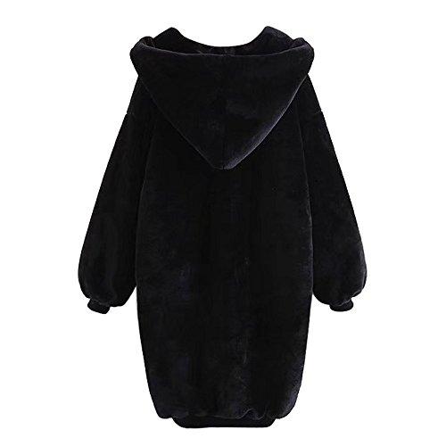 algodón cap afelpado coat relajada mujeres incluso El Negro invierno coat dwPvXAnq